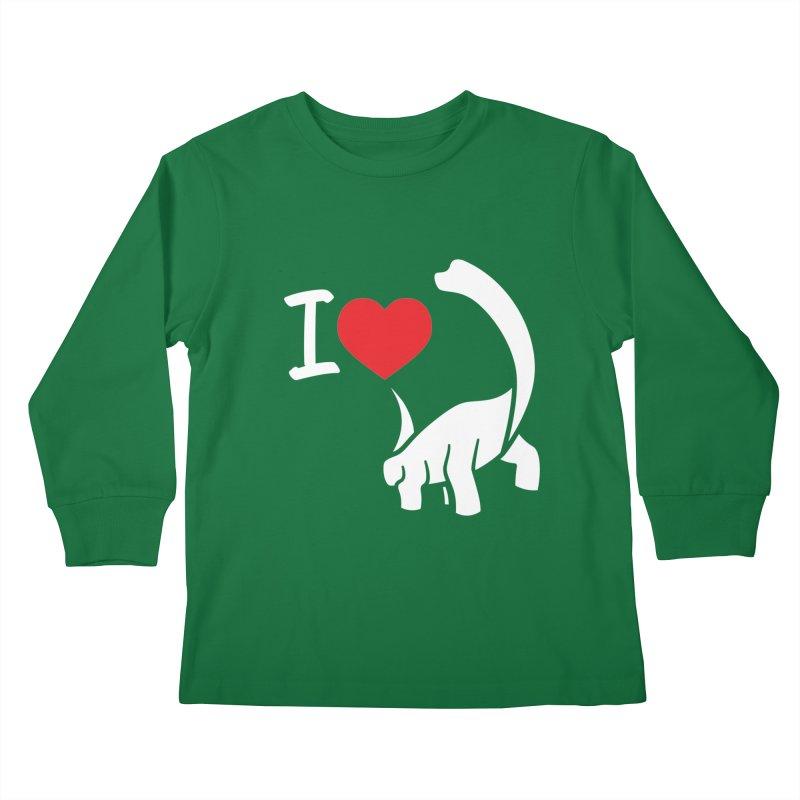 I Love Dinos <3 Kids Longsleeve T-Shirt by IRONSAURUS SHOP