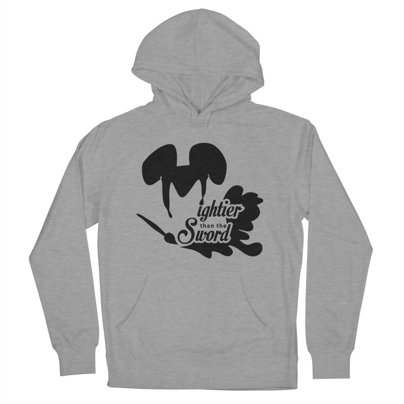 Mightier than the Sword - D80 Men's French Terry Pullover Hoody by IRONSAURUS SHOP