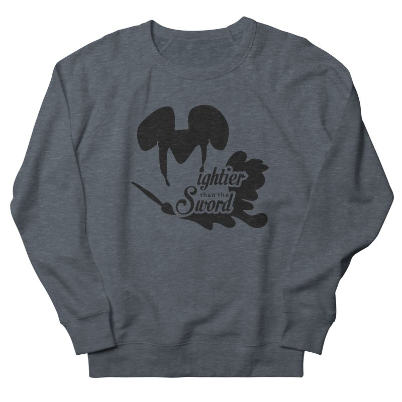 Mightier than the Sword - D80 Women's French Terry Sweatshirt by IRONSAURUS SHOP