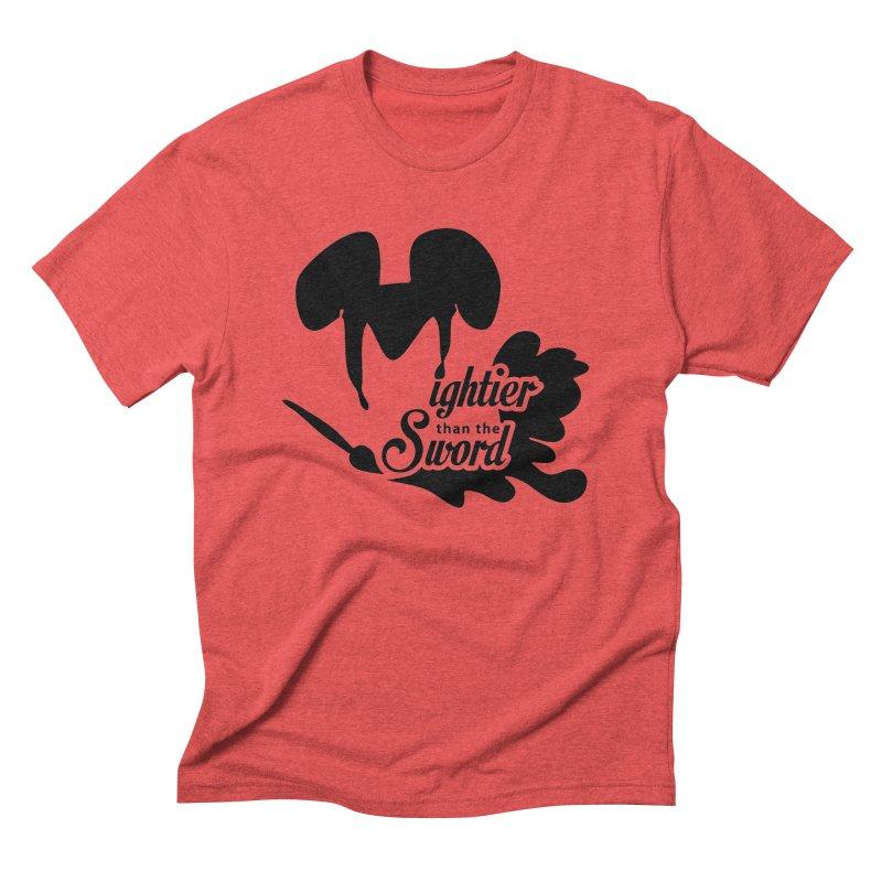 Mightier than the Sword - D80 Men's Triblend T-shirt by IRONSAURUS SHOP