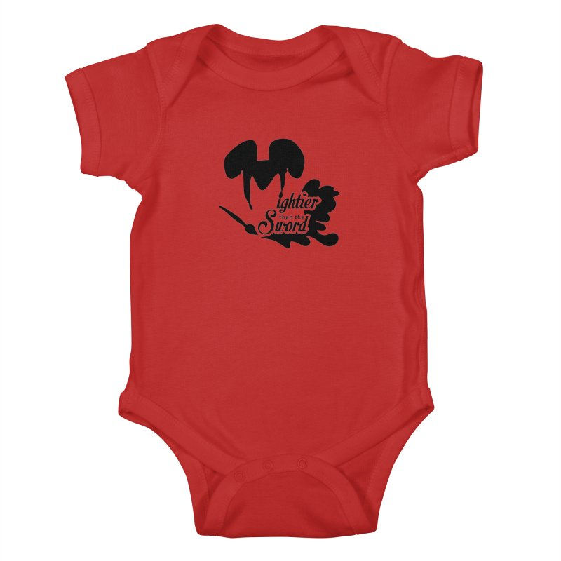 Mightier than the Sword - D80 Kids Baby Bodysuit by IRONSAURUS SHOP