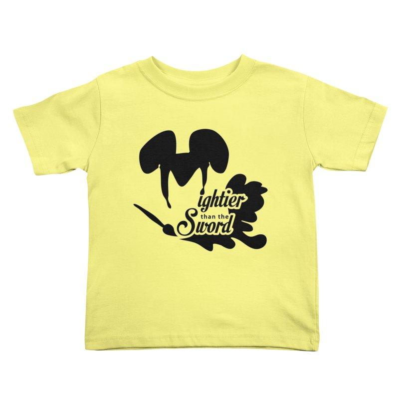 Mightier than the Sword - D80 Kids Toddler T-Shirt by IRONSAURUS SHOP
