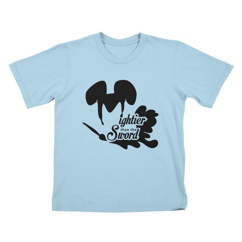 Mightier than the Sword - D80 Kids T-Shirt by IRONSAURUS SHOP