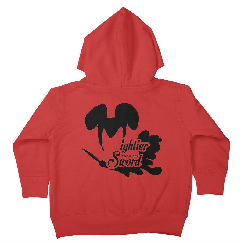 Mightier than the Sword - D80 Kids Toddler Zip-Up Hoody by IRONSAURUS SHOP