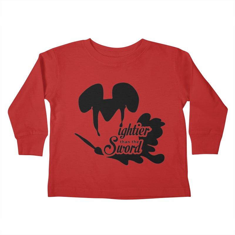 Mightier than the Sword - D80 Kids Toddler Longsleeve T-Shirt by IRONSAURUS SHOP
