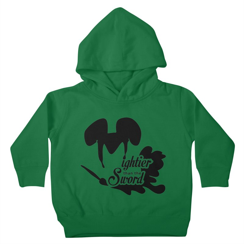 Mightier than the Sword - D80 Kids Toddler Pullover Hoody by IRONSAURUS SHOP