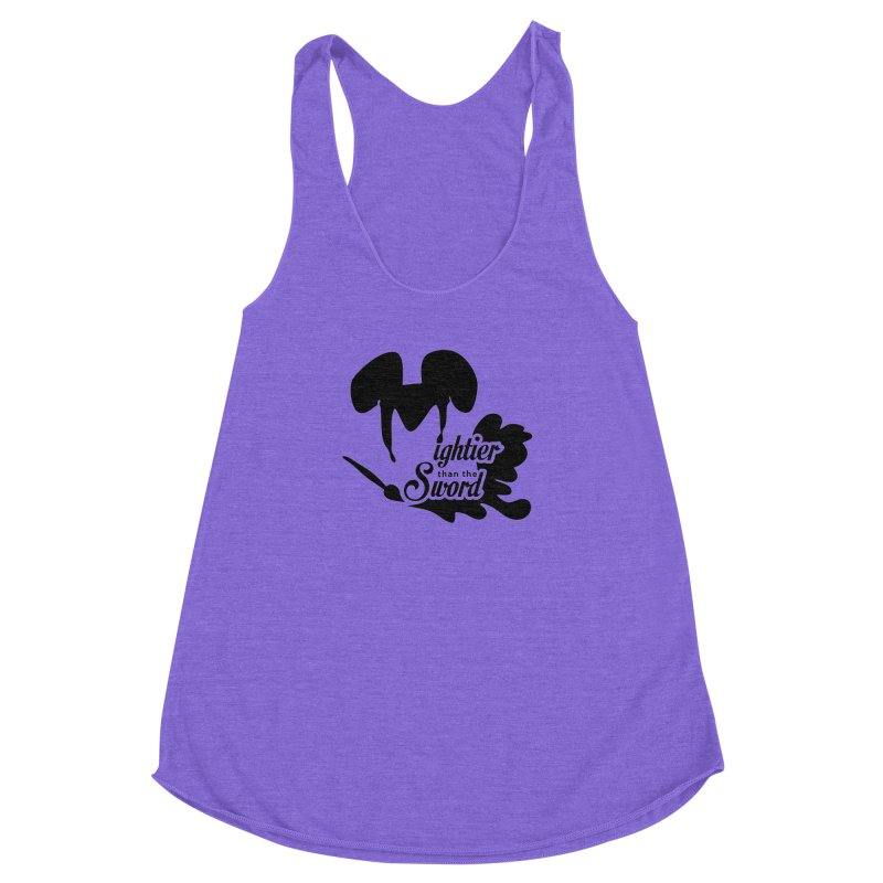 Mightier than the Sword - D80 Women's Racerback Triblend Tank by IRONSAURUS SHOP