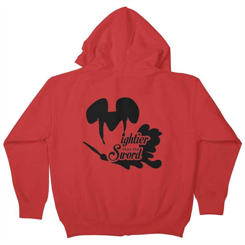 Mightier than the Sword - D80 Kids Zip-Up Hoody by IRONSAURUS SHOP