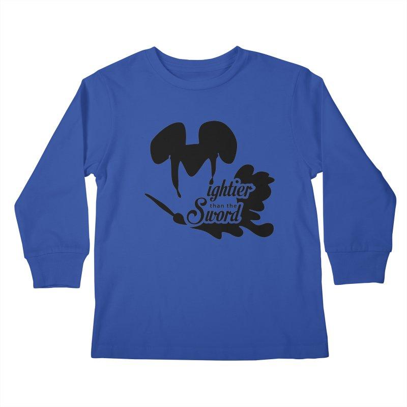 Mightier than the Sword - D80 Kids Longsleeve T-Shirt by IRONSAURUS SHOP