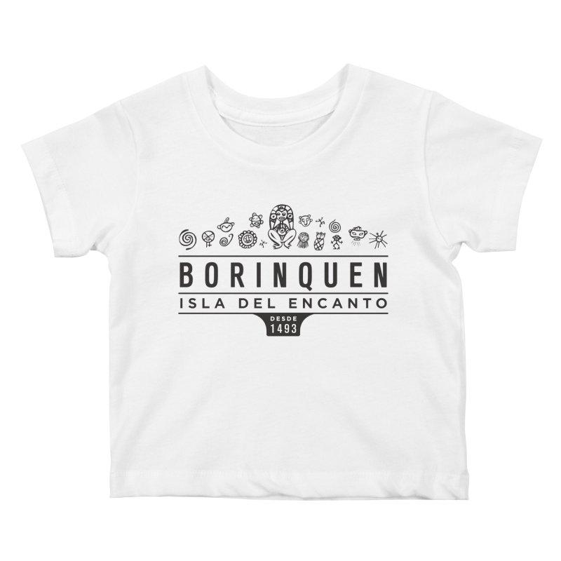 Boriquen Isla del Encanto - PR Kids Baby T-Shirt by IRONSAURUS SHOP