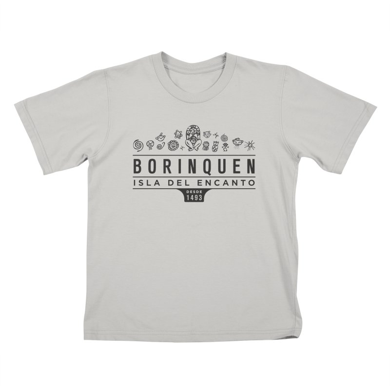 Boriquen Isla del Encanto - PR Kids T-shirt by IRONSAURUS SHOP