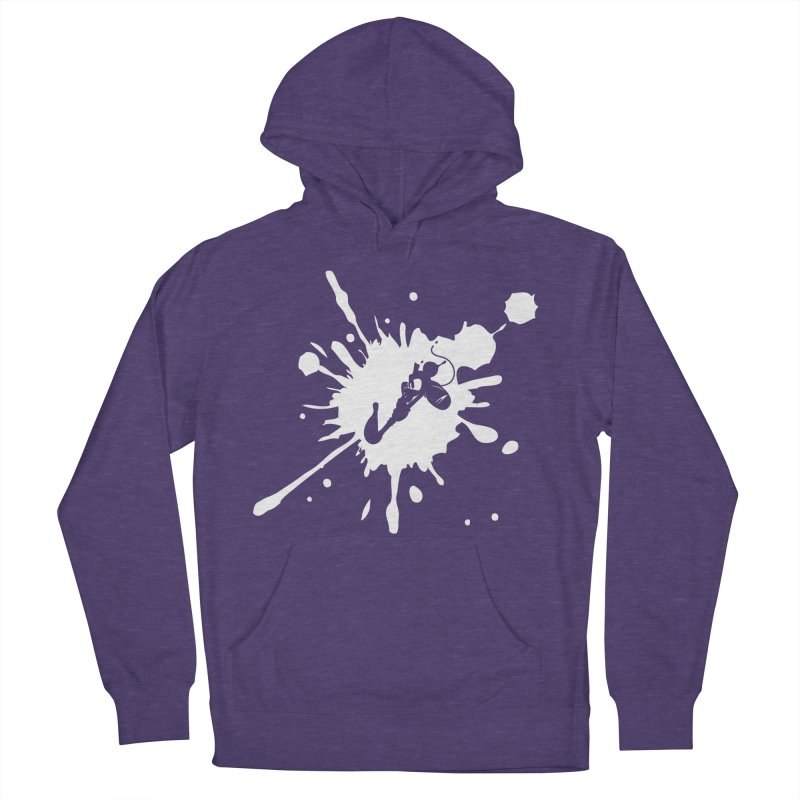 The Mighty Ink - D80 - White Women's Pullover Hoody by IRONSAURUS SHOP