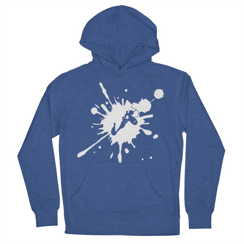 The Mighty Ink - D80 - White Men's Pullover Hoody by IRONSAURUS SHOP