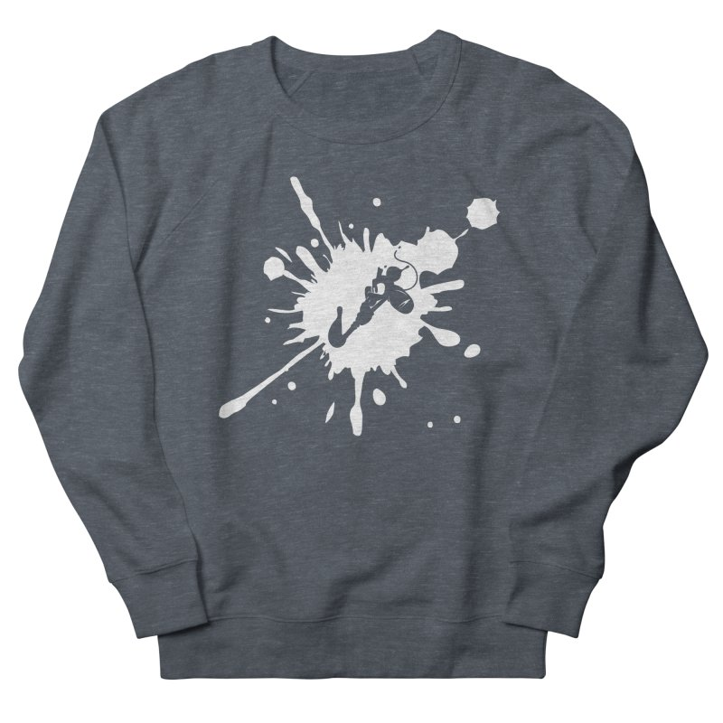 The Mighty Ink - D80 - White Women's Sweatshirt by IRONSAURUS SHOP