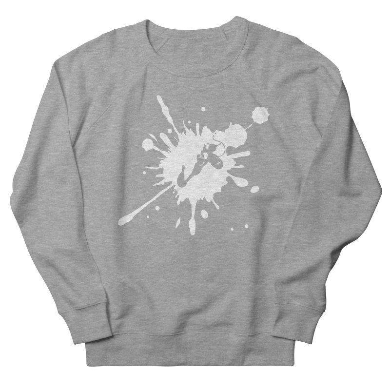 The Mighty Ink - D80 - White Women's French Terry Sweatshirt by IRONSAURUS SHOP
