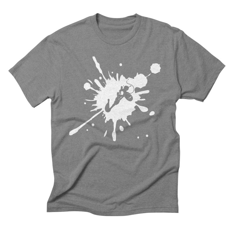 The Mighty Ink - D80 - White Men's Triblend T-Shirt by IRONSAURUS SHOP
