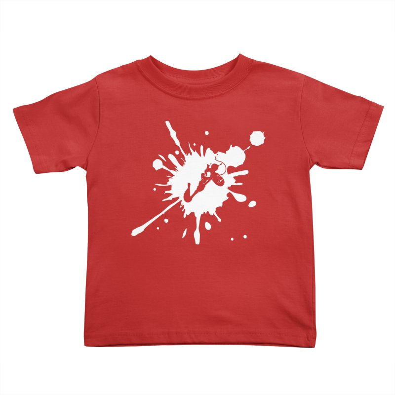 The Mighty Ink - D80 - White Kids Toddler T-Shirt by IRONSAURUS SHOP