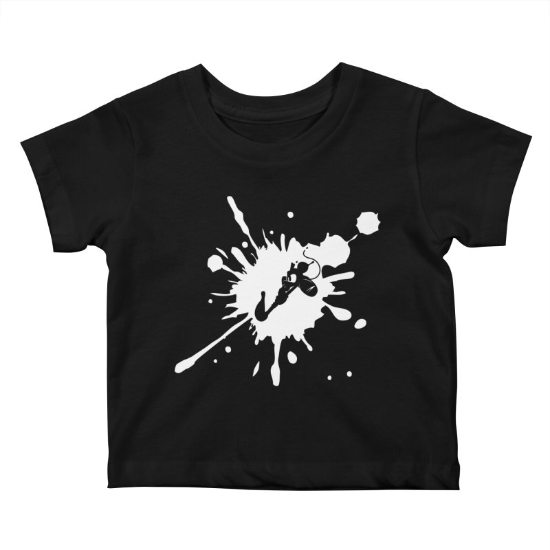 The Mighty Ink - D80 - White Kids Baby T-Shirt by IRONSAURUS SHOP