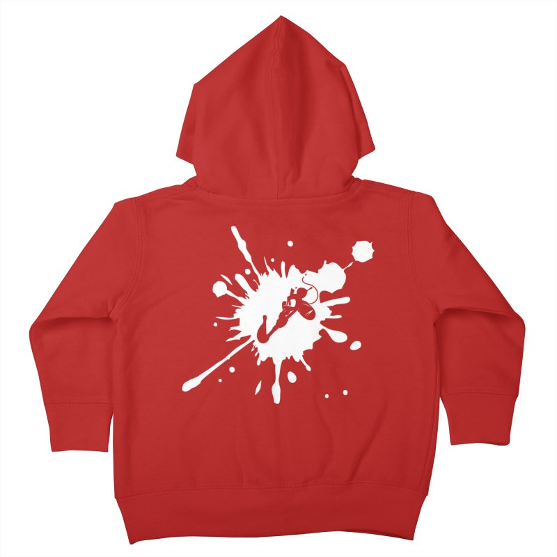 The Mighty Ink - D80 - White Kids Toddler Zip-Up Hoody by IRONSAURUS SHOP