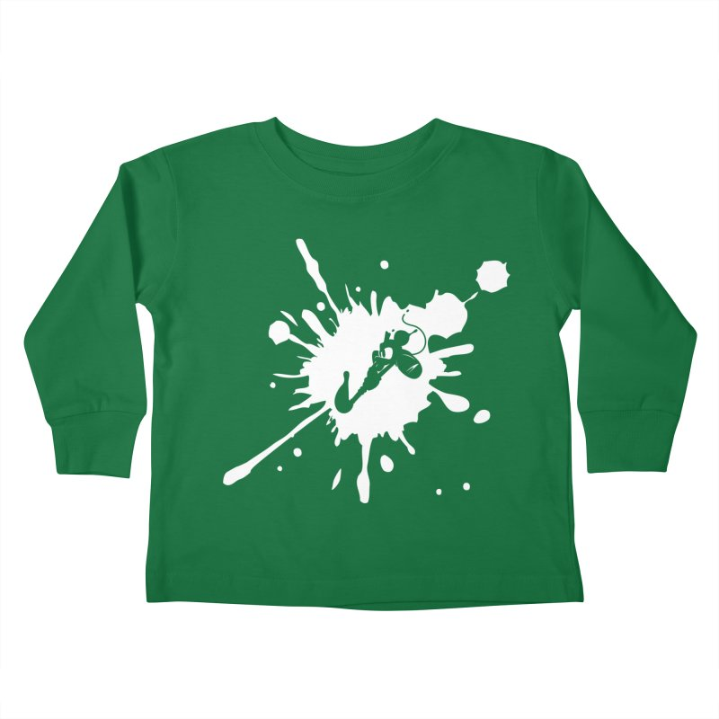 The Mighty Ink - D80 - White Kids Toddler Longsleeve T-Shirt by IRONSAURUS SHOP
