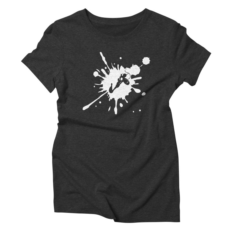 The Mighty Ink - D80 - White Women's Triblend T-Shirt by IRONSAURUS SHOP