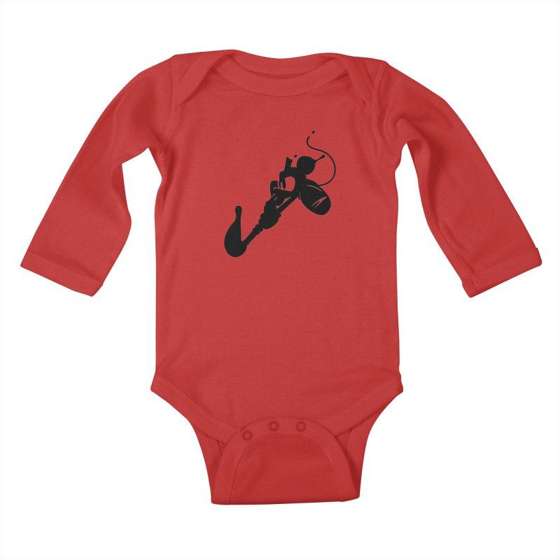 The Mighty Ink - D80 Kids Baby Longsleeve Bodysuit by IRONSAURUS SHOP
