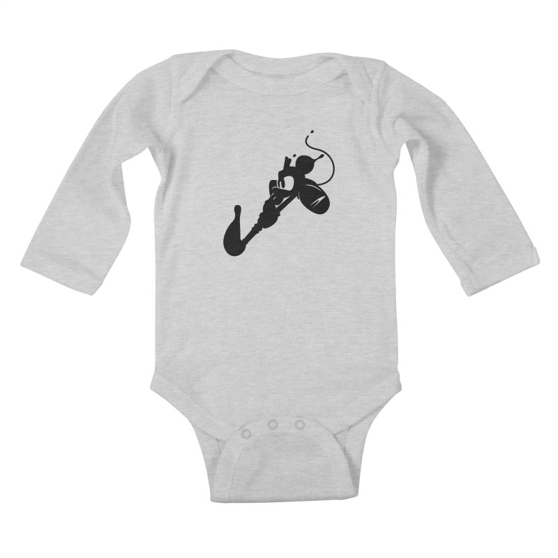 The Mighty Ink - D80 Kids Baby Longsleeve Bodysuit by IRONSAURUS SHOP