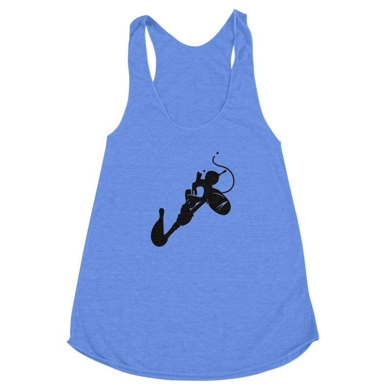 The Mighty Ink - D80 Women's Racerback Triblend Tank by IRONSAURUS SHOP