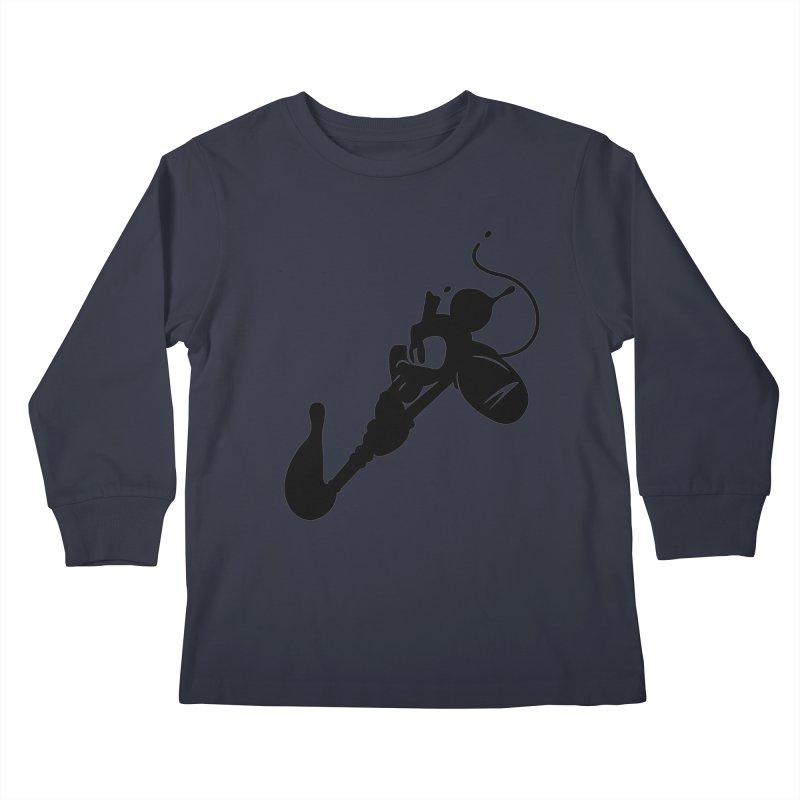 The Mighty Ink - D80 Kids Longsleeve T-Shirt by IRONSAURUS SHOP