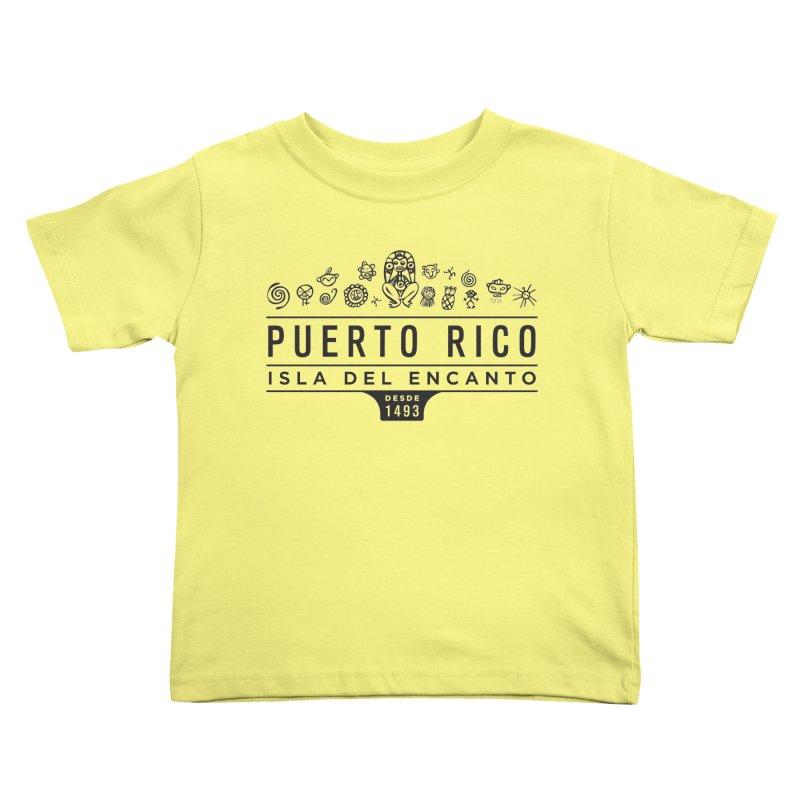 Isla del Encanto - PR Kids Toddler T-Shirt by IRONSAURUS SHOP