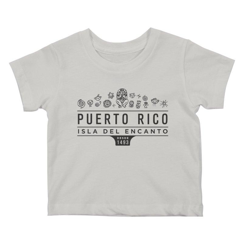 Isla del Encanto - PR Kids Baby T-Shirt by IRONSAURUS SHOP
