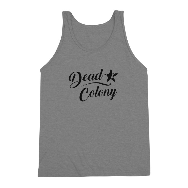 Dead Colony Star - Black - DC Men's Triblend Tank by IRONSAURUS SHOP