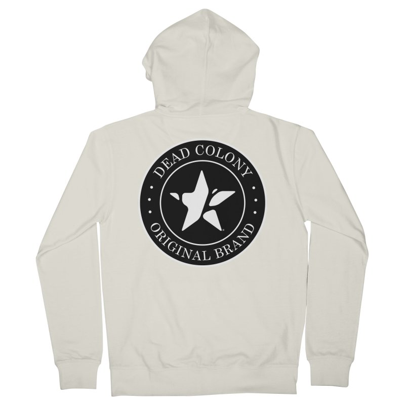 Dead Colony Star Seal - Black - DC Women's Zip-Up Hoody by IRONSAURUS SHOP