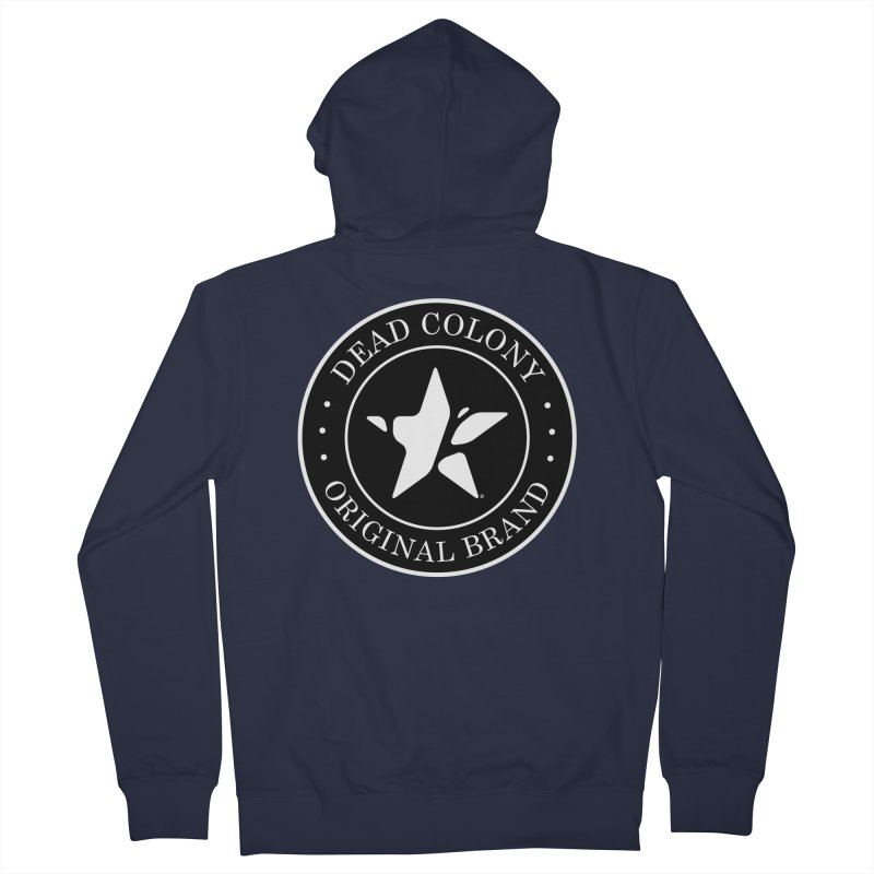 Dead Colony Star Seal - Black - DC Men's Zip-Up Hoody by IRONSAURUS SHOP