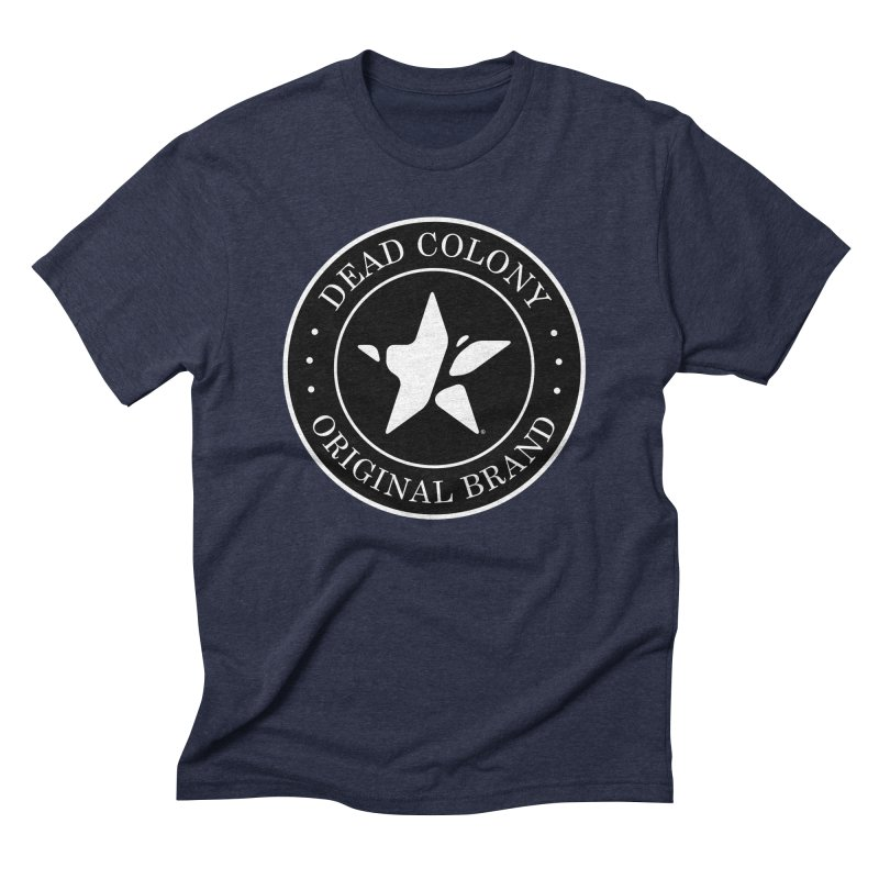 Dead Colony Star Seal - Black - DC Men's Triblend T-Shirt by IRONSAURUS SHOP