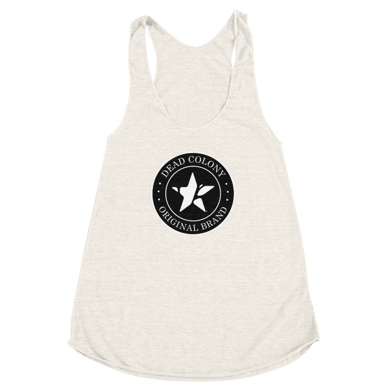 Dead Colony Star Seal - Black - DC Women's Racerback Triblend Tank by IRONSAURUS SHOP