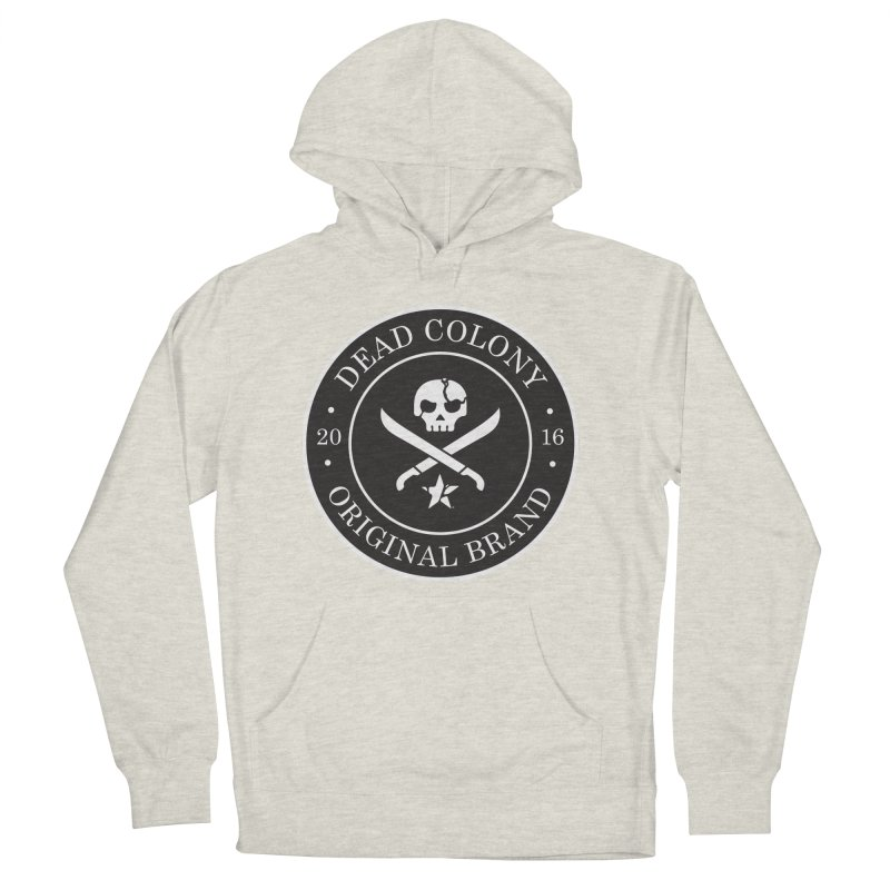 Dead Colony Pirate Seal - Black - DC Men's French Terry Pullover Hoody by IRONSAURUS SHOP