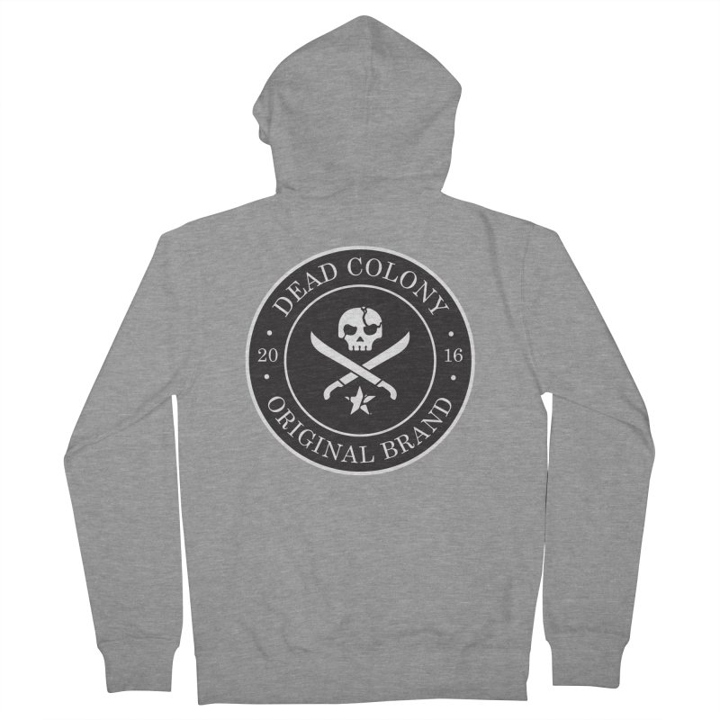 Dead Colony Pirate Seal - Black - DC Women's Zip-Up Hoody by IRONSAURUS SHOP