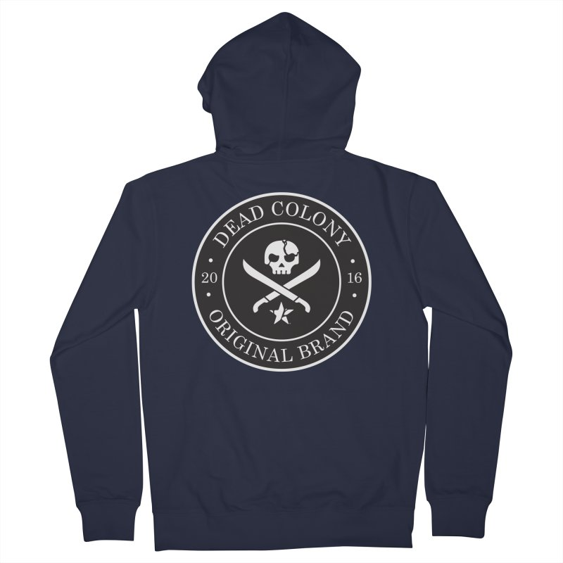Dead Colony Pirate Seal - Black - DC Men's Zip-Up Hoody by IRONSAURUS SHOP