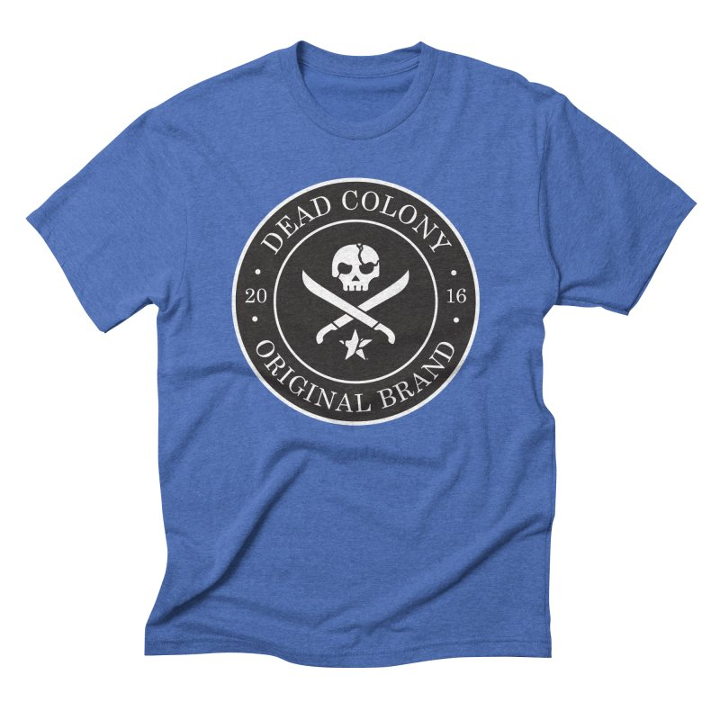 Dead Colony Pirate Seal - Black - DC Men's French Terry Zip-Up Hoody by IRONSAURUS SHOP