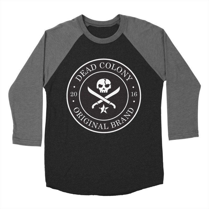 Dead Colony Pirate Seal - Black - DC Men's Baseball Triblend T-Shirt by IRONSAURUS SHOP