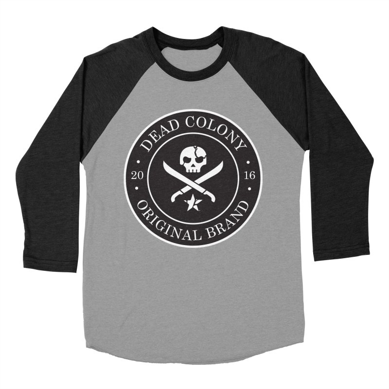 Dead Colony Pirate Seal - Black - DC Men's Baseball Triblend Longsleeve T-Shirt by IRONSAURUS SHOP