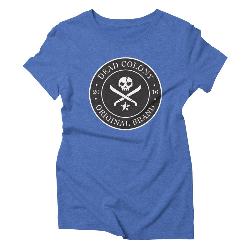 Dead Colony Pirate Seal - Black - DC Women's Triblend T-Shirt by IRONSAURUS SHOP