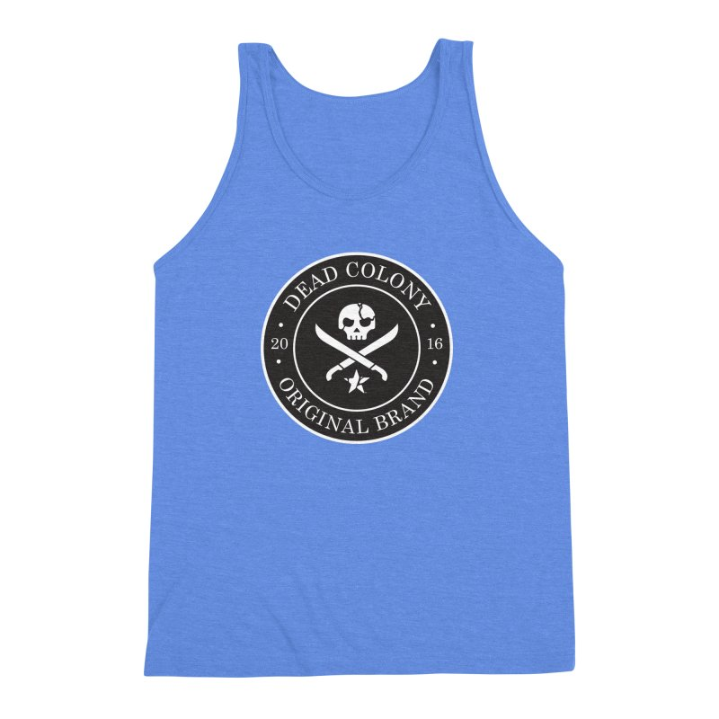Dead Colony Pirate Seal - Black - DC Men's Triblend Tank by IRONSAURUS SHOP
