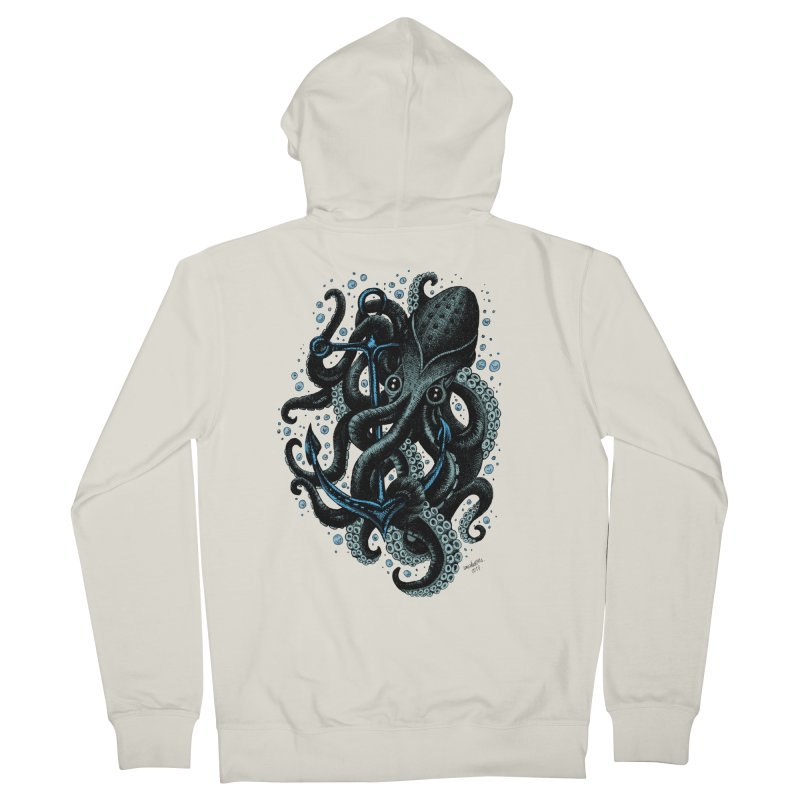 octopus Men's Zip-Up Hoody by irrthum's Shop