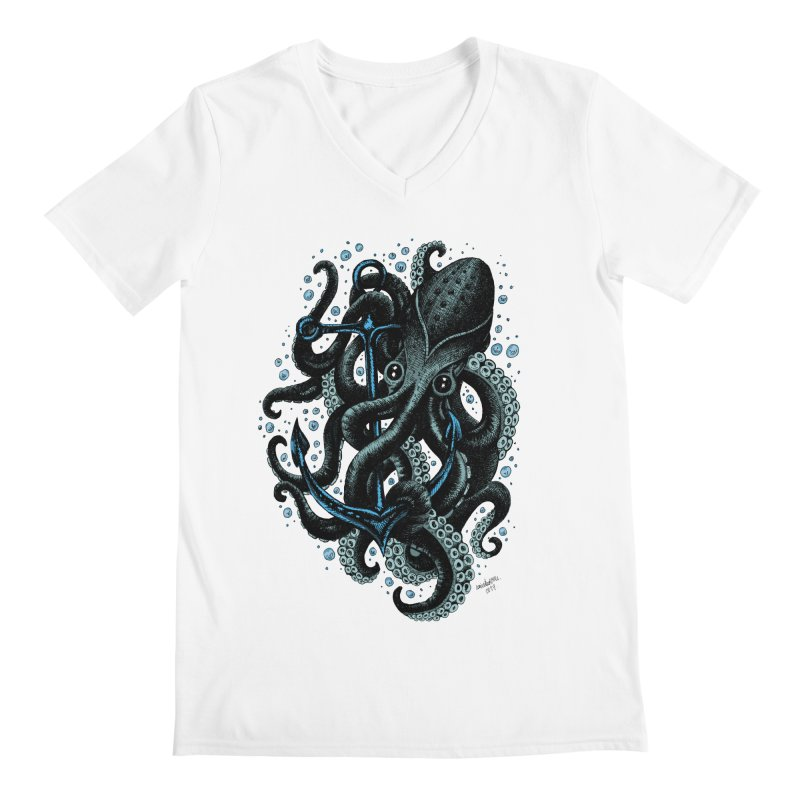 octopus Men's V-Neck by irrthum's Shop