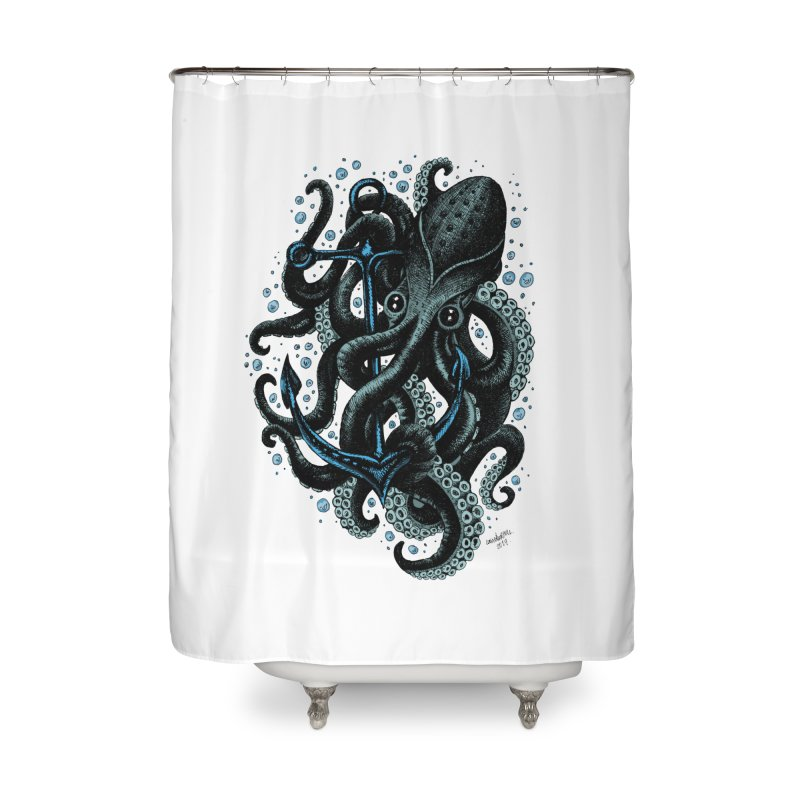 octopus Home Shower Curtain by irrthum's Shop