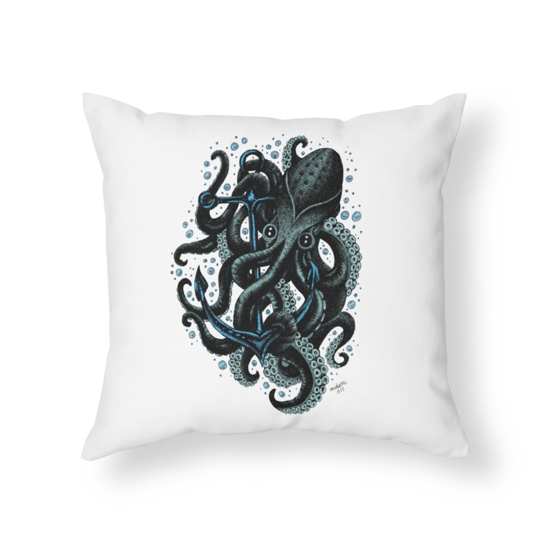 octopus Home Throw Pillow by irrthum's Shop