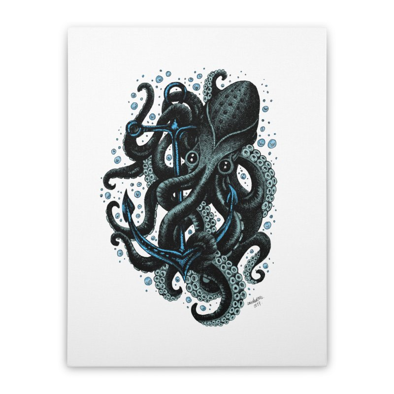 octopus Home Stretched Canvas by irrthum's Shop