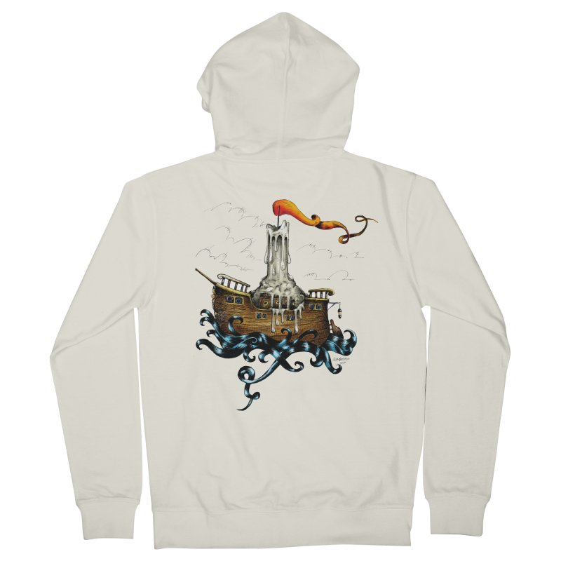 sail boat Men's Zip-Up Hoody by irrthum's Shop